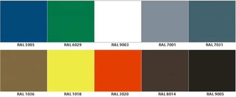 Wandkühlregal Paros Pro Farben